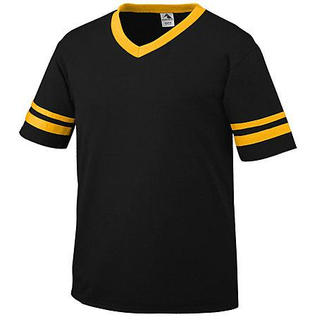 Sleeve Stripe Jersey Black/gold Adult Baseball