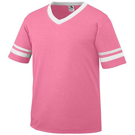 Sleeve Stripe Jersey Power Pink/white Adult Baseball