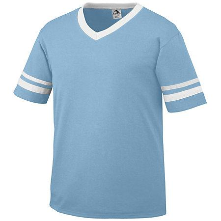 Sleeve Stripe Jersey Aqua/white Adult Baseball
