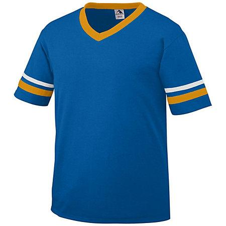Sleeve Stripe Jersey Royal/gold/white Adult Baseball