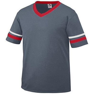Youth Sleeve Stripe Jersey Graphite/red/white Baseball