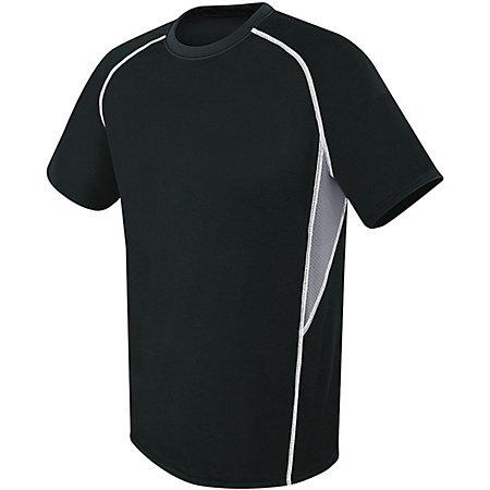 Evolution Short Sleeve Black/graphite/white Adult Single Soccer Jersey & Shorts