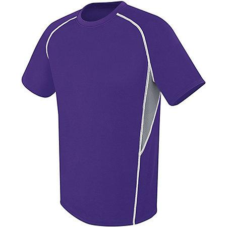 Evolution Short Sleeve Purple/graphite/white Adult Single Soccer Jersey & Shorts