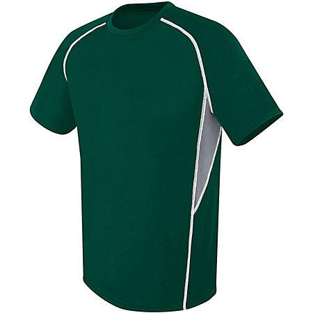 Evolution Short Sleeve Forest/graphite/white Adult Single Soccer Jersey & Shorts