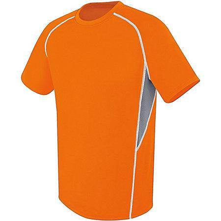 Evolution Short Sleeve Orange/graphite/white Adult Single Soccer Jersey & Shorts