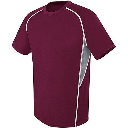 Youth Evolution Short Sleeve Maroon/graphite/white Single Soccer Jersey & Shorts