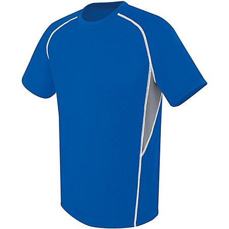 Youth Evolution Short Sleeve Royal/graphite/white Single Soccer Jersey & Shorts