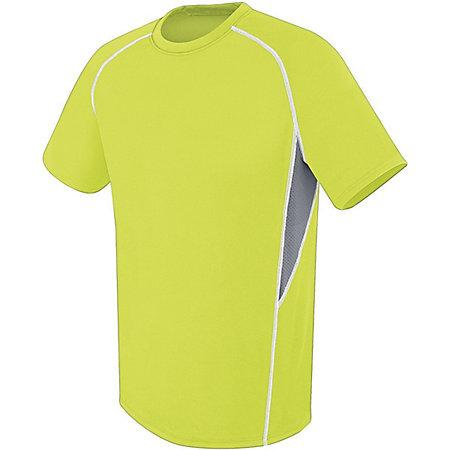 Youth Evolution Short Sleeve Lime/graphite/white Single Soccer Jersey & Shorts