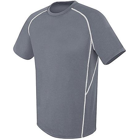 Youth Evolution Short Sleeve Graphite/graphite/white Single Soccer Jersey & Shorts