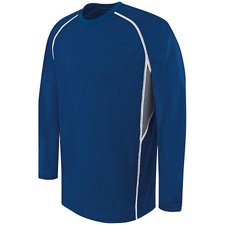 Adult Long Sleeve Evolution Top Navy/graphite/white Single Soccer Jersey & Shorts