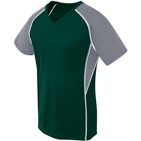Ladies Evolution Short Sleeve Forest/graphite/white Adult Volleyball