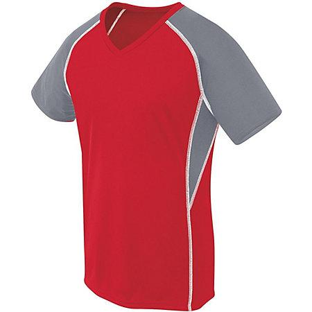 Ladies Evolution Short Sleeve Scarlet/graphite/white Adult Volleyball