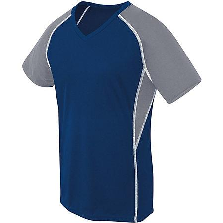Girls Evolution Short Sleeve Navy/graphite/white Youth Volleyball