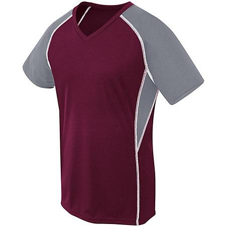 Girls Evolution Short Sleeve Maroon/graphite/white Youth Volleyball