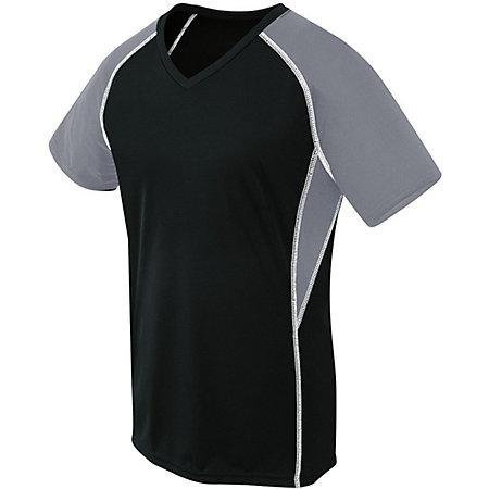 Girls Evolution Short Sleeve Black/graphite/white Youth Volleyball