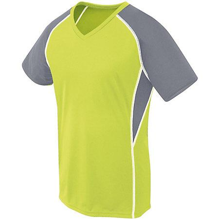 Girls Evolution Short Sleeve Lime/graphite/white Youth Volleyball
