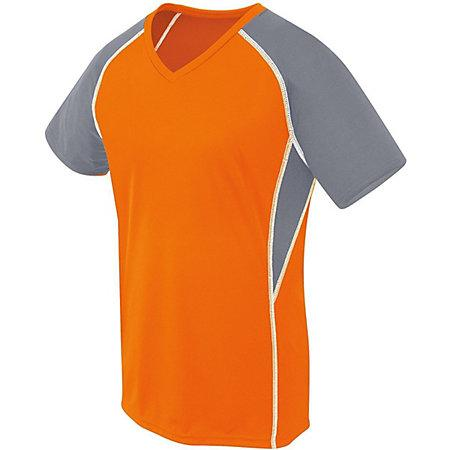 Girls Evolution Short Sleeve Orange/graphite/white Youth Volleyball