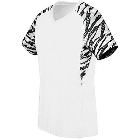 Ladies Printed Evolution Short Sleeve White/fragment Print/white Adult Volleyball