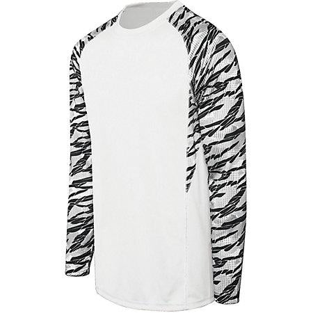 Adult Evolution Print Long Sleeve White/fragment Print/white Single Soccer Jersey & Shorts