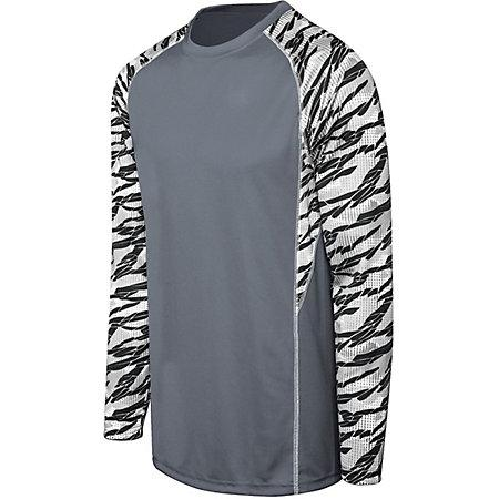 Adult Evolution Print Long Sleeve Graphite/fragment Print/white Single Soccer Jersey & Shorts