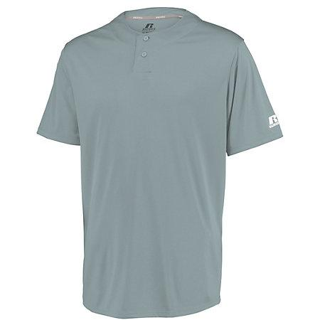 Youth Performance Two-Button Solid Jersey Baseball Grey