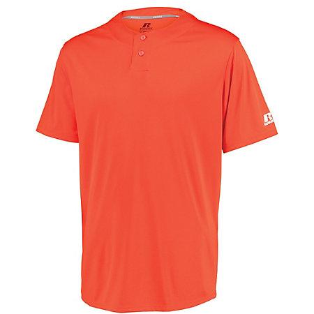 Youth Performance Two-Button Solid Jersey Burnt Orange Baseball