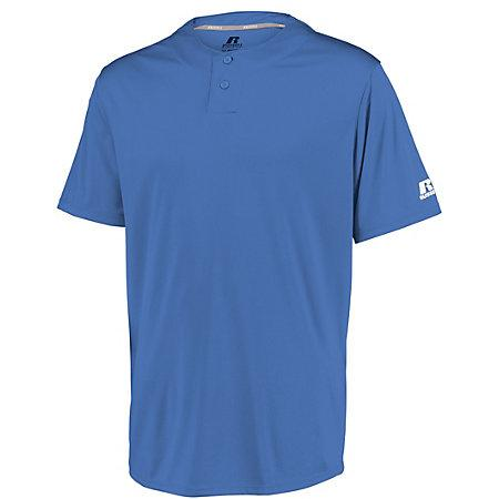 Youth Performance Two-Button Solid Jersey Columbia Blue Baseball