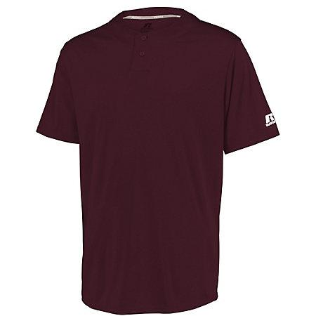 Youth Performance Two-Button Solid Jersey Maroon Baseball