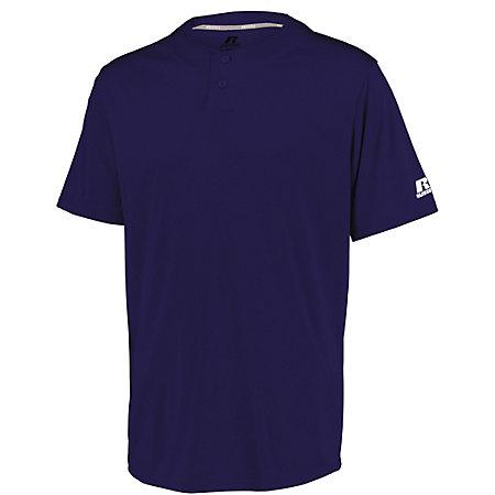 Youth Performance Two-Button Solid Jersey Purple Baseball