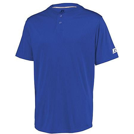 Youth Performance Two-Button Solid Jersey Royal Baseball