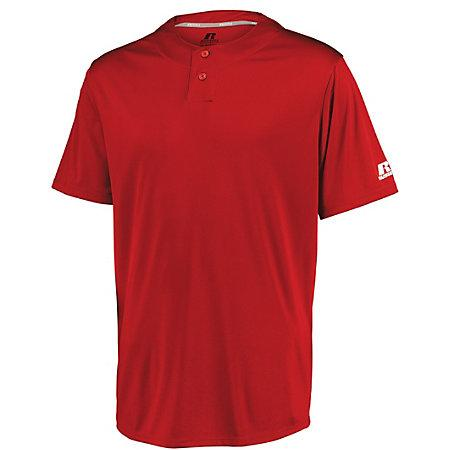 Youth Performance Two-Button Solid Jersey True Red Baseball