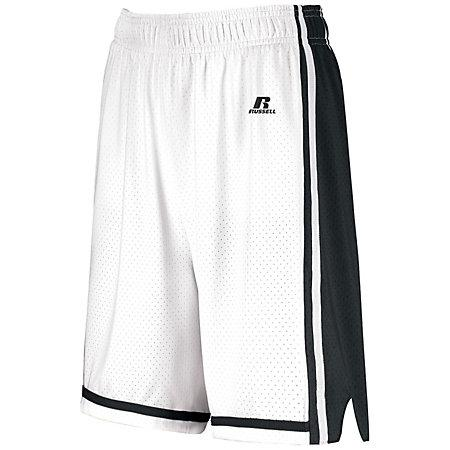Ladies Legacy Basketball Shorts White/black Single Jersey &