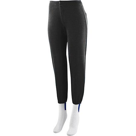 Ladies Low Rise Softball Pant Black
