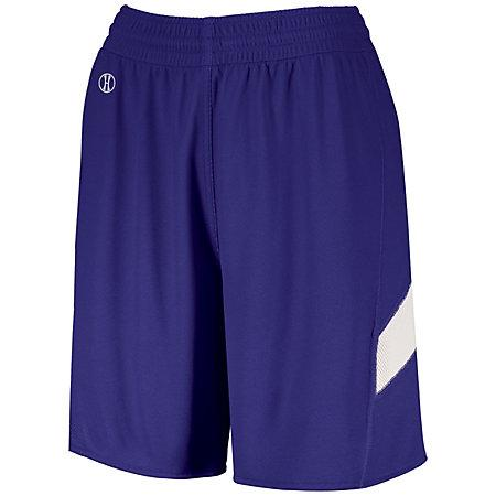 Ladies Dual-Side Single Ply Shorts Purple/white Basketball Jersey &