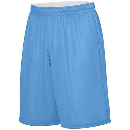 Youth Reversible Wicking Shorts Columbia Blue/white Basketball Single Jersey &