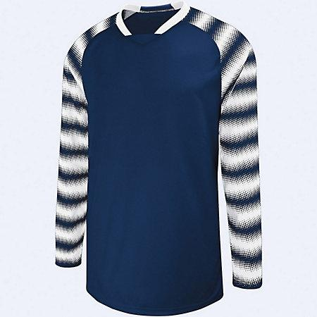 Youth Prism Goalkeeper Jersey Navy/white Single Soccer & Shorts
