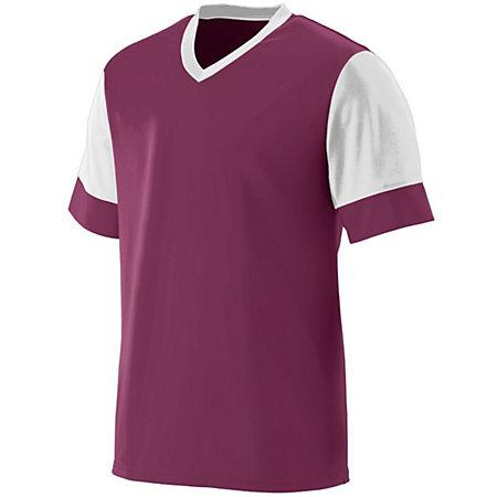 Youth Lightning Jersey Maroon / white Single Fútbol y Shorts