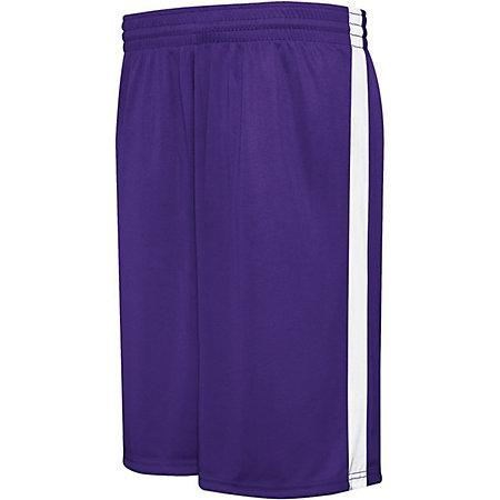Youth Competition Reversible Shorts Purple/white Basketball Single Jersey &