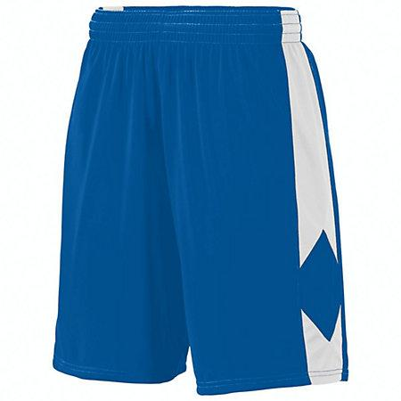 Youth Block Out Shorts Royal/white Basketball Single Jersey &