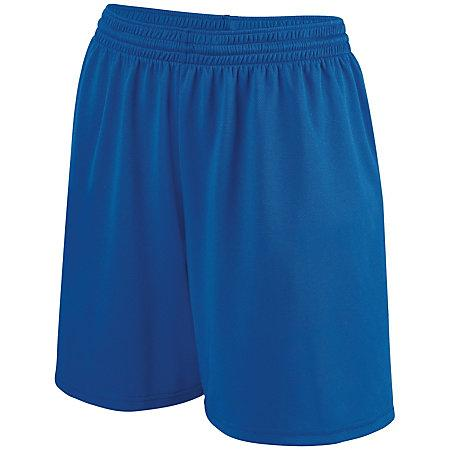 Girls Shortwave Shorts Royal/white Softball