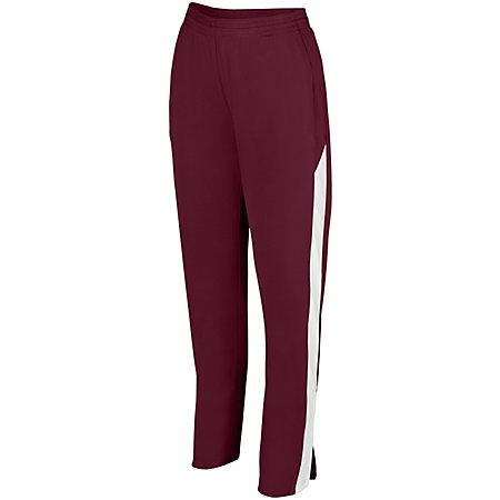 Ladies Medalist Pant 2.0 Maroon/white Softball