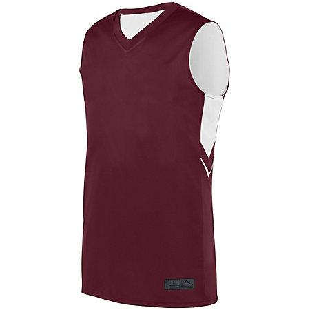 Alley-Oop Reversible Jersey Maroon/white Adult Basketball Single & Shorts