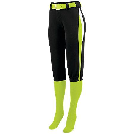 Ladies Comet Pant Black/lime/white