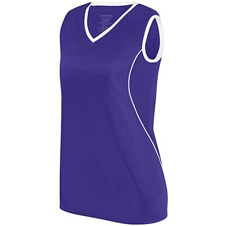 Ladies Firebolt Jersey Purple/white Softball