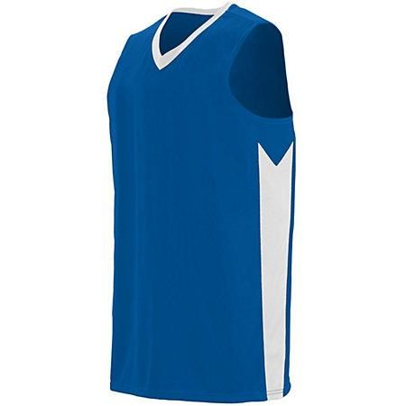 Block Out Jersey Royal/white Adult Basketball Single & Shorts