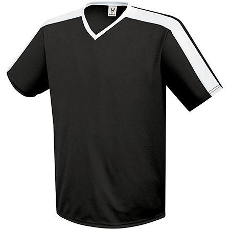 Youth Genesis Soccer Jersey Negro / blanco Single & Shorts
