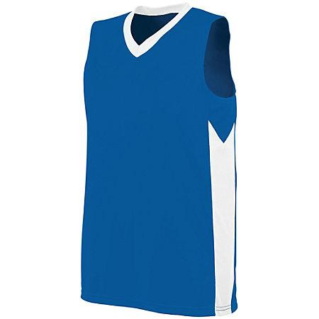 Ladies Block Out Jersey Royal/white Basketball Single & Shorts