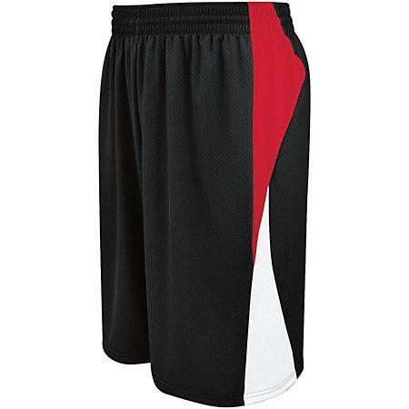 Campus Reversible Shorts Black/scarlet/white Adult Basketball Single Jersey &