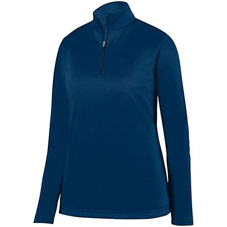Ladies Wicking Fleece Pullover Navy Basketball Single Jersey & Shorts