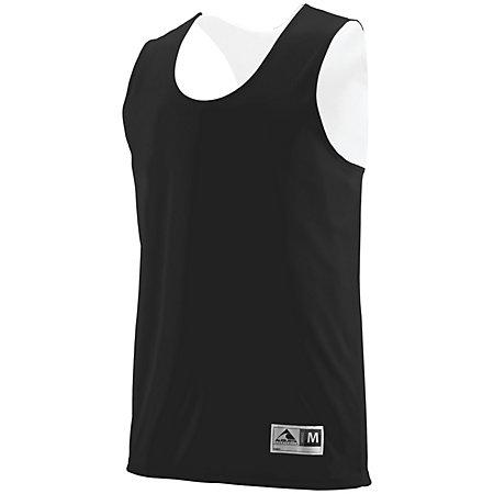 Youth Reversible Wicking Tank Black/white Basketball Single Jersey & Shorts